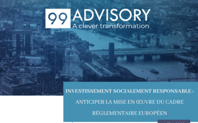 Inversión socialmente responsable: anticipar la implementación del marco regulatorio europeo / 99 Advisory
