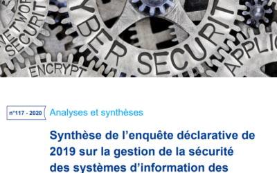 Summary of the 2019 declarative survey on the management of the security of insurers' information systems