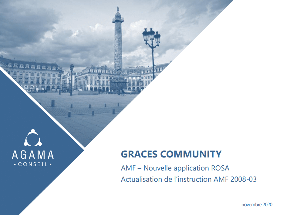 AMF – Nouvelle application ROSA – Actualisation de l'instruction AMF 2008-03 / Agama Conseil