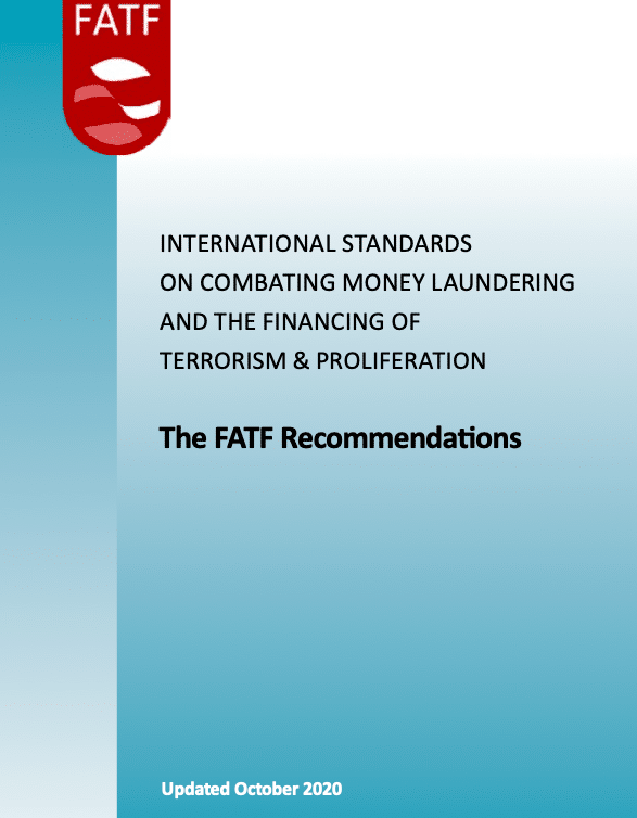 The FATF Recommendations – Update October 2020