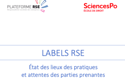 "France Strategie: ""CSR Labels"" working group of the CSR Platform"