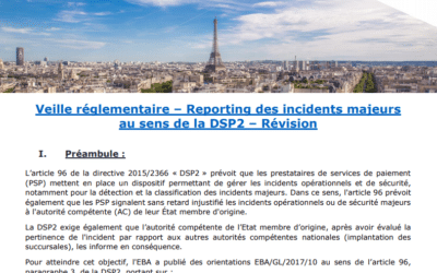 Reporting of major incidents within the meaning of DSP2 / Regulation Partners