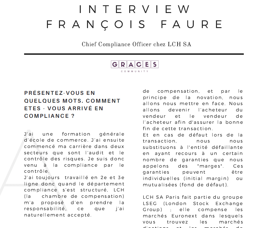 Interview Fraçois Faure