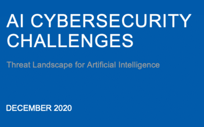 ENISA : Artificial Intelligence Cybersecurity Challenges