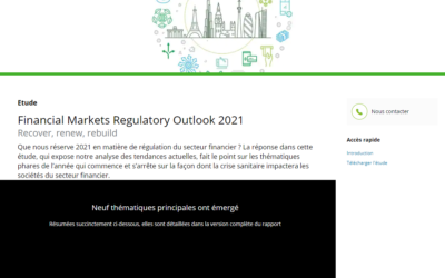 Financial Markets Regulatory Outlook 2021
