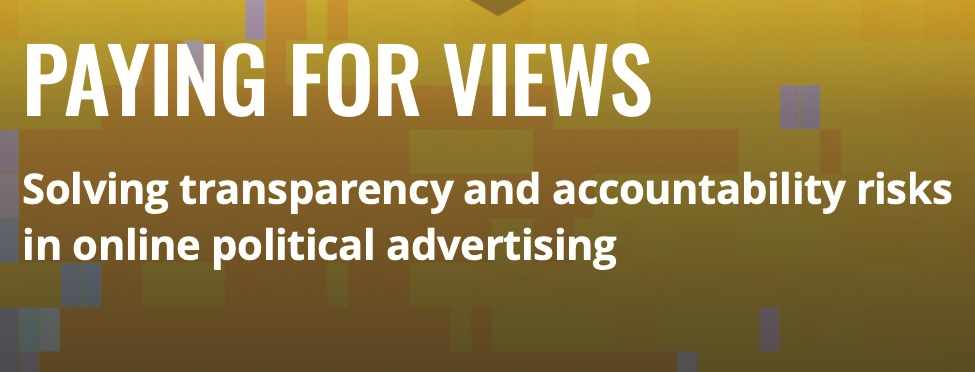 SOLVING TRANSPARENCY AND ACCOUNTABILITY RISKS IN ONLINE POLITICAL ADVERTISING