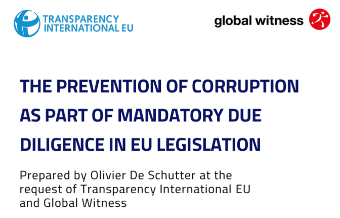 Preventing corporate corruption through EU legislation by Global Witness
