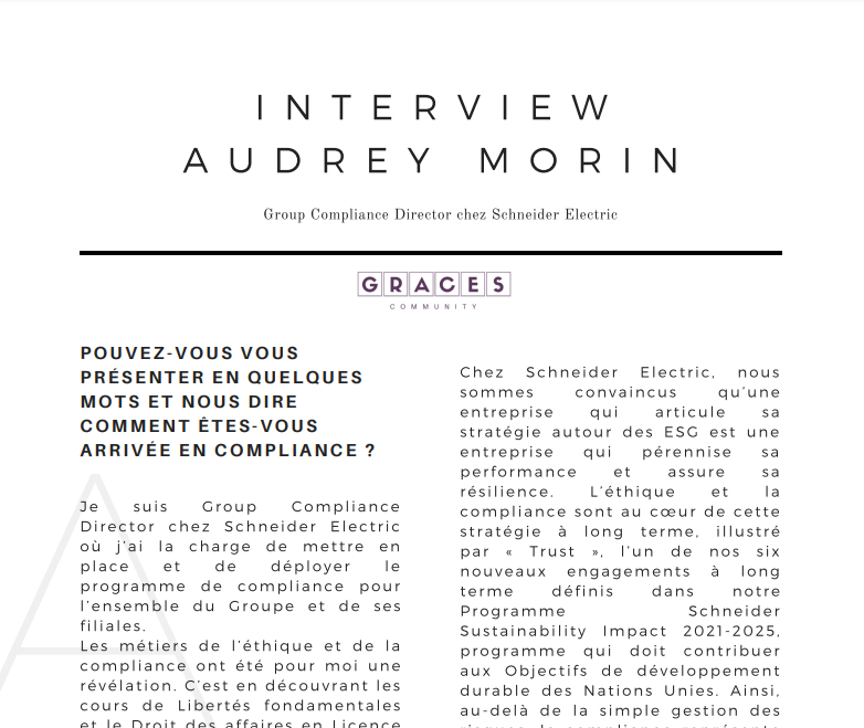 Interview Audrey Morin