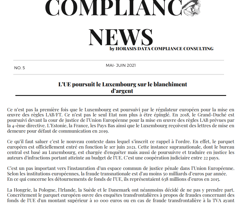Compliance News by Horasis