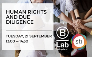 Human Rights and Due Diligence – STI Thematic Event by B Lab Switzerland